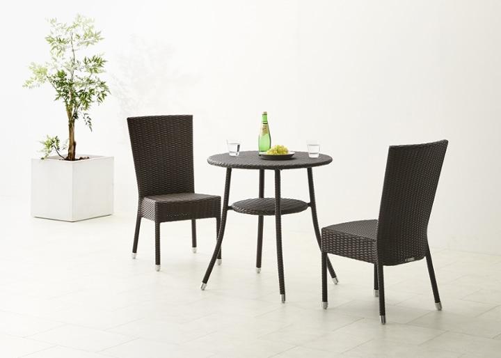 ガーデン・テーブル 700 セット 椅子2脚:画像2