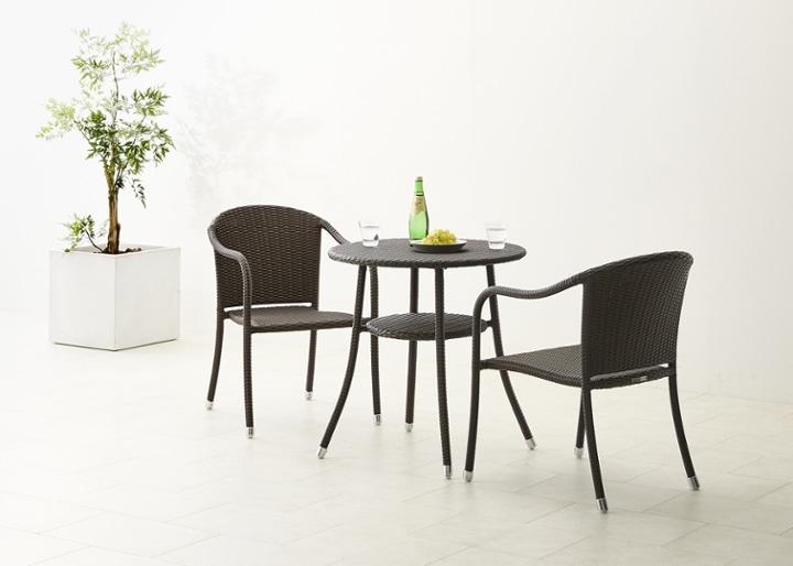 ガーデン・テーブル 700 セット 椅子2脚:画像3