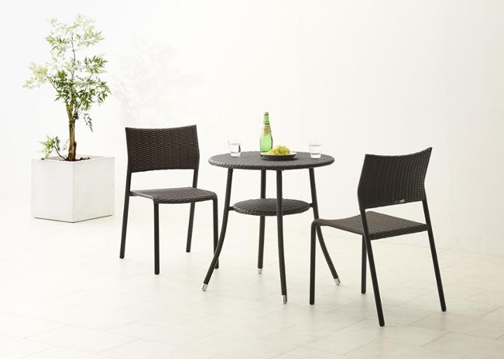 ガーデン・テーブル 700 セット 椅子2脚:画像4