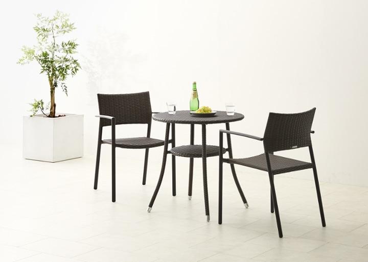 ガーデン・テーブル 700 セット 椅子2脚:画像5