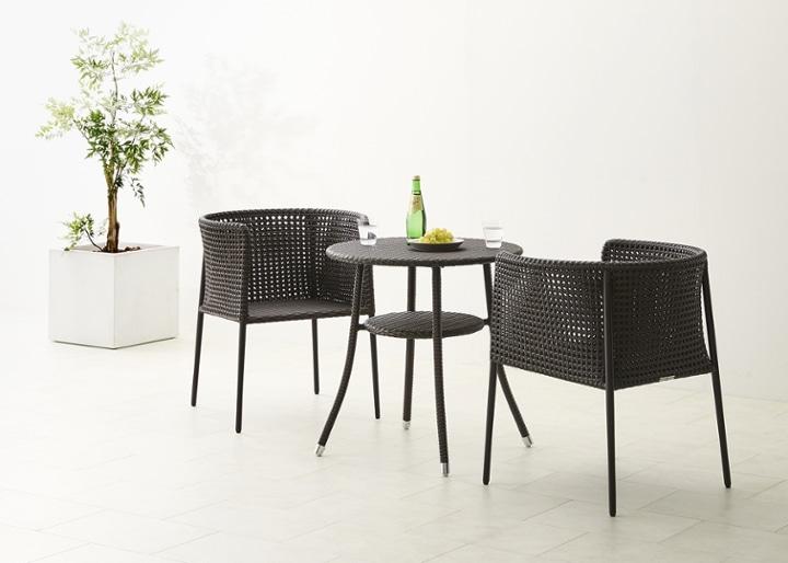 ガーデン・テーブル 700 セット 椅子2脚:画像6