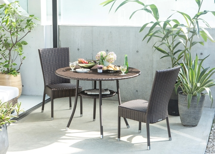 ガーデン・テーブル 1000 セット 椅子2・4脚:画像1
