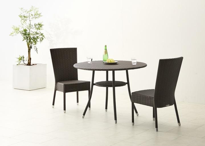 ガーデン・テーブル 1000 セット チェア×2:画像2