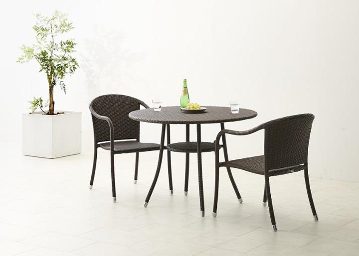 ガーデン・テーブル 1000 セット チェア×2:画像3