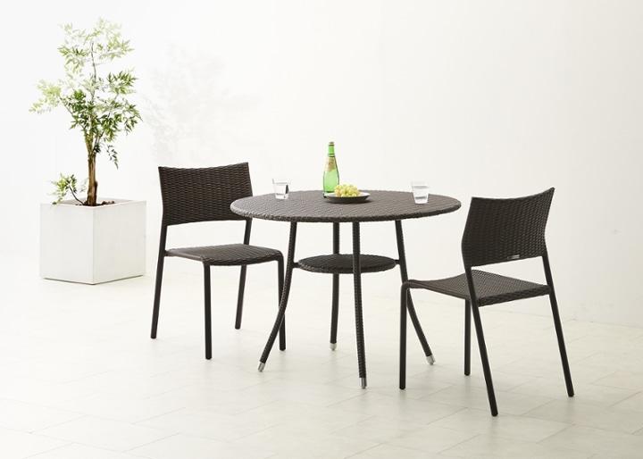 ガーデン・テーブル 1000 セット チェア×2:画像4