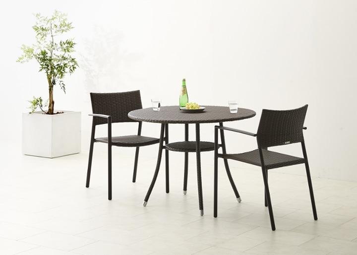 ガーデン・テーブル 1000 セット チェア×2:画像5