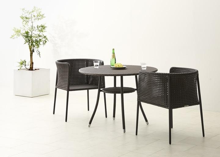 ガーデン・テーブル 1000 セット チェア×2:画像6