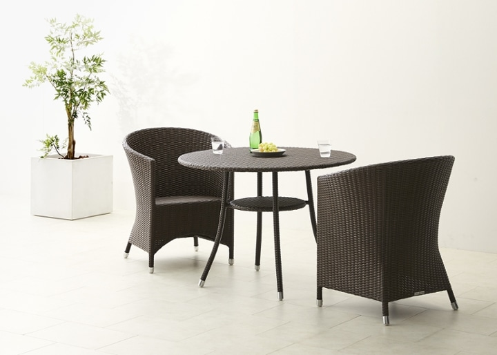ガーデン・テーブル 1000 セット チェア×2:画像7