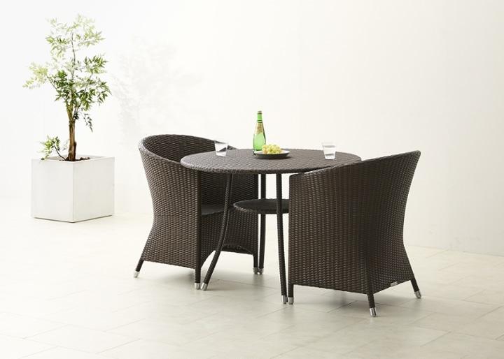 ガーデン・テーブル 1000 セット チェア×2:画像8