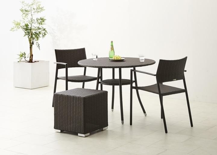 ガーデン・テーブル 1000 セット チェア×2:画像9