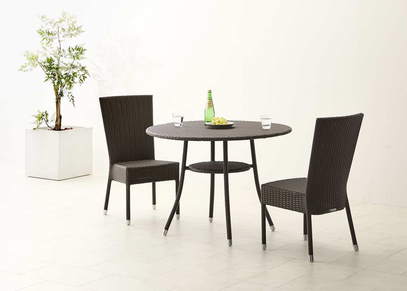 Garden table 1000 set chairx2ガーデン・テーブル 1000 セット チェア×2