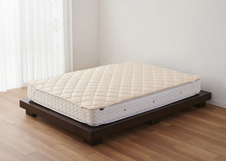 ウォッシャブル・ウール・ベッドパッド:画像1