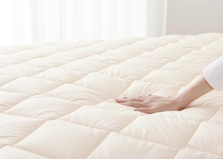 ウォッシャブル・ウール・ベッドパッド:画像4