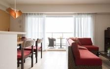 アジアンリゾートのようなモデルルームの家具・インテリアコーディネート実例