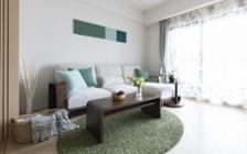 開放感と癒しをコンセプトにしたモデルルームの家具・インテリアコーディネート実例