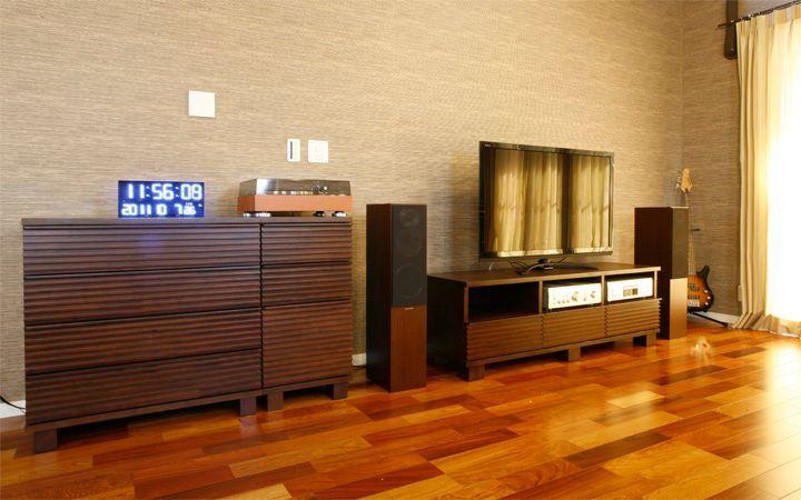 No.23 広いワンルームをアジアンテイストで統一した高級感のあるモダンインテリア実例:画像3
