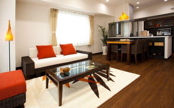 No.81 暖色系のグラデーションが綺麗なアジアンリゾート空間:画像1