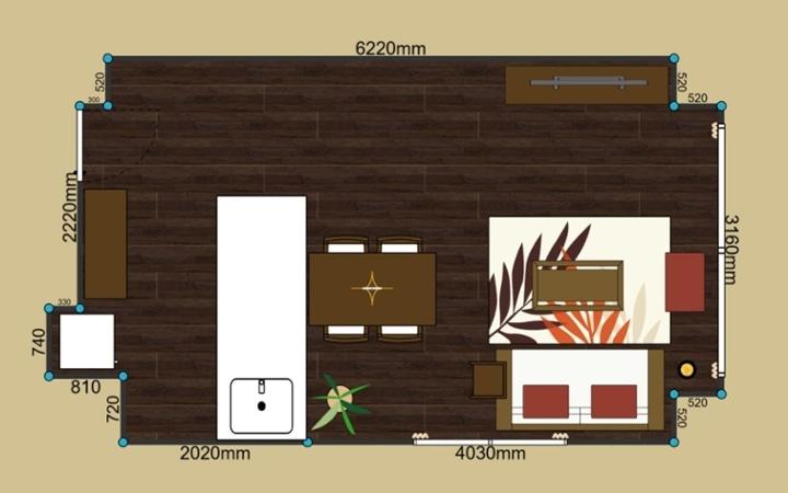 No.81 暖色系のグラデーションが綺麗なアジアンリゾート空間:画像9