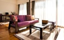 No.82 紫のファブリックが醸し出すオリエンタルなお部屋作り