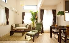 No.84 リゾートホテルをモチーフにした緑と癒しのお部屋