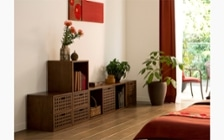 組み合わせ自由のユニット式収納家具でライフスタイルに合わせたインテリアを実現