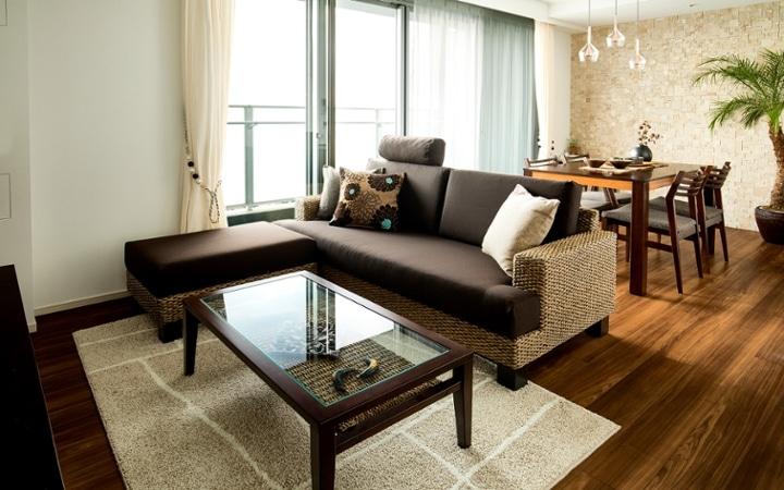 No.110 自然や温もりを感じるリゾートホテル風のマンションコーディネート:画像1