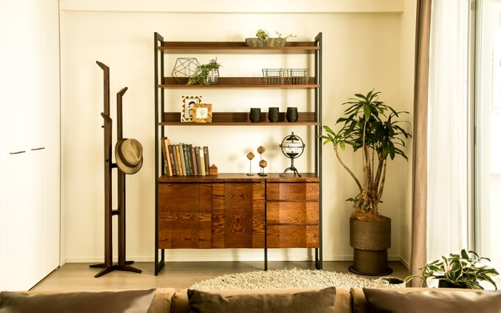 No.119 ダークブラウンのインテリアで統一、おしゃれな二人暮らし空間:画像12