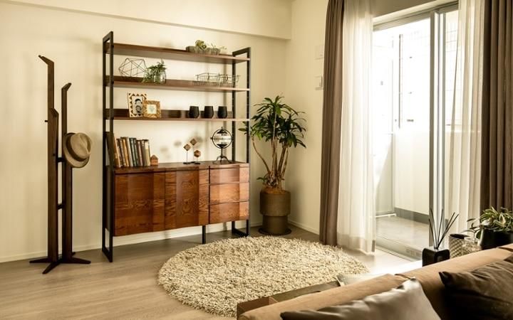 No.119 ダークブラウンのインテリアで統一、おしゃれな二人暮らし空間:画像13
