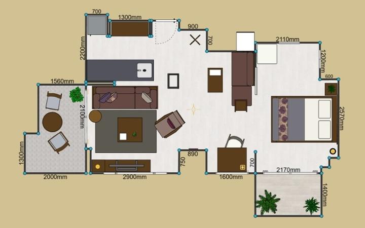 No.123 都会のリゾートを感じる 1LDKマンションの家具・インテリアコーディネート:画像27