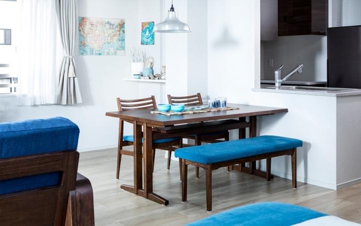 No.127 ブルーが映えるビーチスタイルの西海岸風インテリア ~海のようなリゾート空間をマンションで実現~:画像7
