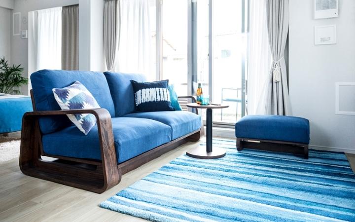 No.127 ブルーが映えるビーチスタイルの西海岸風インテリア ~海のようなリゾート空間をマンションで実現~:画像11