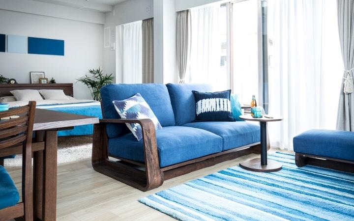 No.127 ブルーが映えるビーチスタイルの西海岸風インテリア ~海のようなリゾート空間をマンションで実現~:画像10
