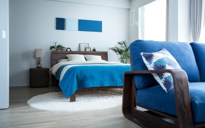 No.127 ブルーが映えるビーチスタイルの西海岸風インテリア ~海のようなリゾート空間をマンションで実現~:画像15