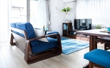 No.127 ブルーが映えるビーチスタイルの西海岸風インテリア ~海のようなリゾート空間をマンションで実現~:画像6