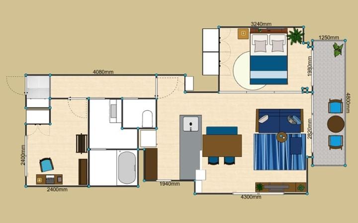 No.127 ブルーが映えるビーチスタイルの西海岸風インテリア ~海のようなリゾート空間をマンションで実現~:画像23