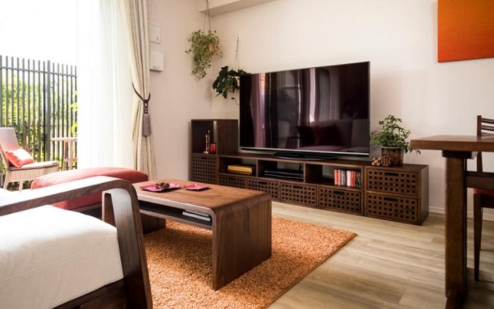 No.129 無垢材の家具でトータルコーディネート ~ぬくもり感じる赤の空間~:画像3
