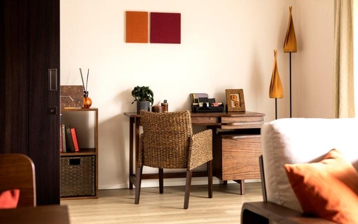 No.129 無垢材の家具でトータルコーディネート ~ぬくもり感じる赤の空間~:画像14