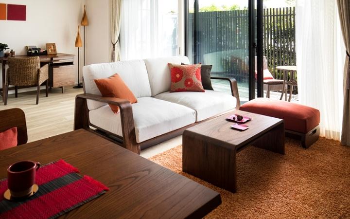 No.129 無垢材の家具でトータルコーディネート ~ぬくもり感じる赤の空間~:画像7