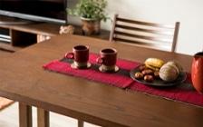 No.129 無垢材の家具でトータルコーディネート ~ぬくもり感じる赤の空間~:画像6