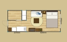 No.132 一人暮らし・ワンルーム(7~8畳) ~海沿いの空気感を楽しむマリンテイストの部屋~:画像13