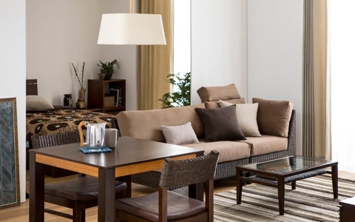 No.137 一人暮らし・1LDK(LD10畳+6畳) ~ユニット家具を組み合わせて住み替え後も快適に過ごす~:画像1