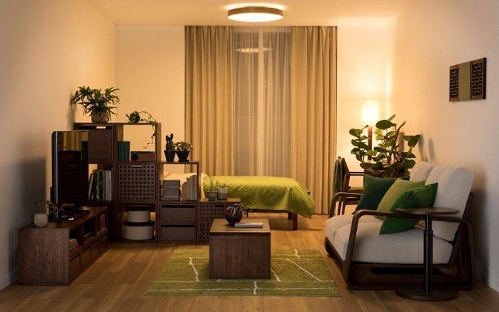 No.144 一人暮らし・ワンルーム(12畳) ~間仕切りでワンルームを二つに分けたヴィラ風リゾート空間~:画像13