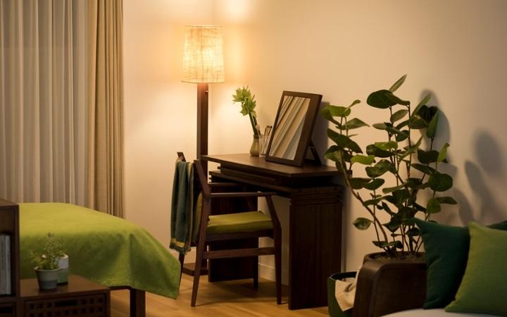 No.144 一人暮らし・ワンルーム(12畳) ~間仕切りでワンルームを二つに分けたヴィラ風リゾート空間~:画像12