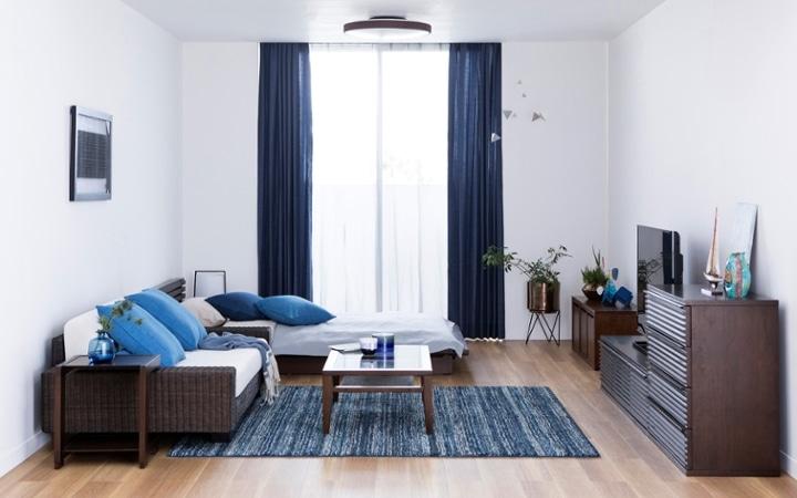 No.146 一人暮らし・ワンルーム(12畳) ~ローソファを中心とした開放感のあるロースタイルな部屋~:画像1