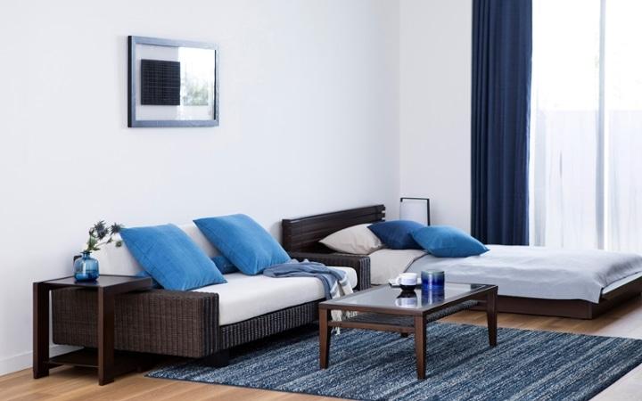 No.146 一人暮らし・ワンルーム(12畳) ~ローソファを中心とした開放感のあるロースタイルな部屋~:画像2
