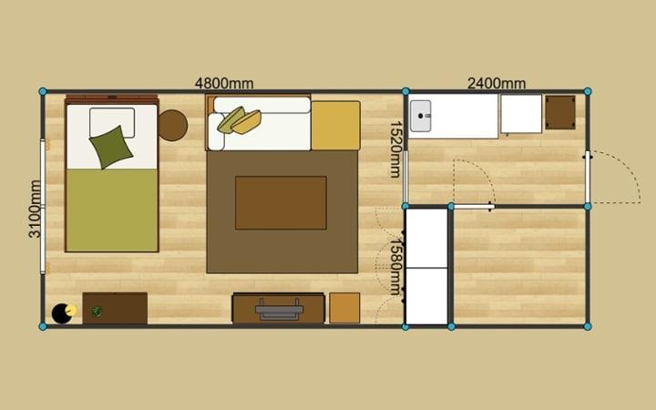 No.150 一人暮らし・ワンルーム(10畳) ~過ごし方自由なソファダイニングで楽しむ一人暮らし~:画像13