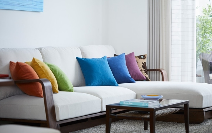 No.157 一人暮らし・1LDK(LD14畳+8畳) ~ハワイアンな虹色をイメージした鮮やかなインテリアコーディネート~:画像4