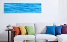 No.157 一人暮らし・1LDK(LD14畳+8畳) ~ハワイアンな虹色をイメージした鮮やかなインテリアコーディネート~