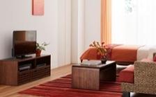 No.164 サンセットのような温もり感じる部屋の作り方 【ヒヤシンス素材+レッド】