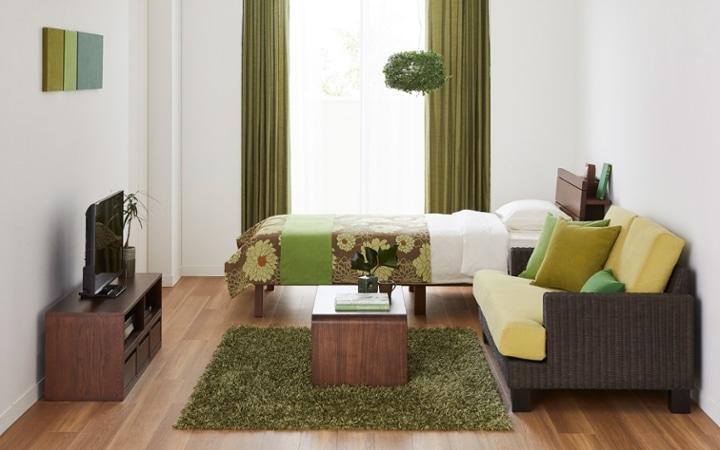 No.165 森のような癒しを感じる部屋の作り方 【ラタン素材+グリーン】:画像1